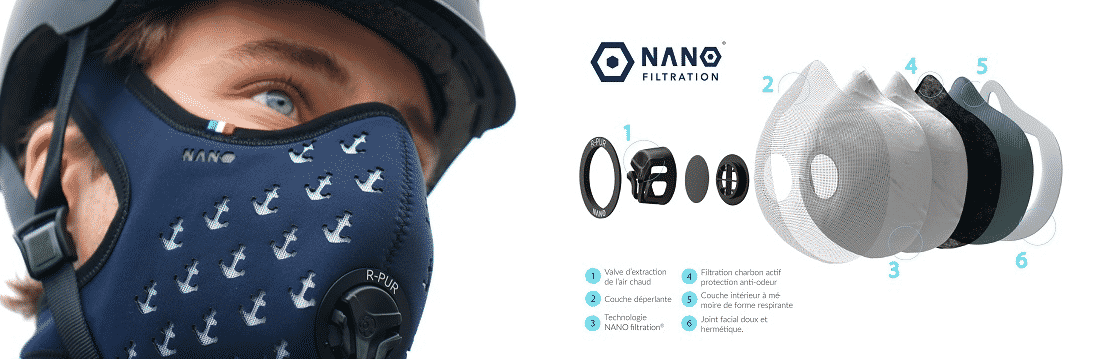masque anti pollution nano
